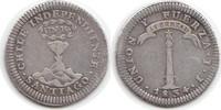 Real 1834 Chile Chile, Republik seit 1818 ...