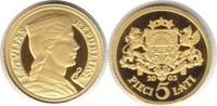 5 Lati 2003 Baltikum Lettland Gold 5 Lati ...