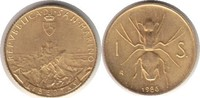 Scudo 1986 Italien San Marino Gold Scudo 1986 R, Insekt GOLD. Fast Stem... 155,00 EUR  +  5,00 EUR shipping