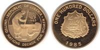 100 Dollars 1985 Liberia Gold 100 Dollars ...