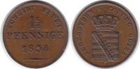 1 1/2 Pfennig 1834 Altdeutschland Sachsen-...