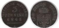 3 Pfennig 1845 Altdeutschland Brandenburg-...