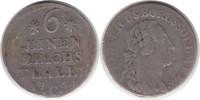1/6 Taler 1764 C, Kle Altdeutschland Brand...