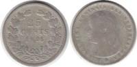 25 Cents 1896 Niederlande Wilhelmina I. 18...