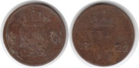 1/2 Cent 1822 Niederlande Utrecht / Wilhel...