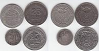 20 & 25 Pfennig 1875-1911 Kaiserreich 1875...