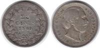 25 Cents 1849 Niederlande Wilhelm III. 184...