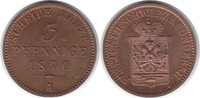 3 Pfennig 1870 A Schwarzburg-Sondershausen...