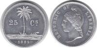 25 Cents 1889 E Liberia Probe Aluminium vo...