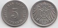5 Pfennig 1913 A Kaiserreich  Fast Stempelglanz  15,00 EUR  +  5,00 EUR shipping
