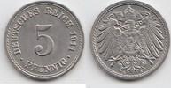 5 Pfennig 1911 A Kaiserreich  Fast Stempelglanz  12,00 EUR  +  5,00 EUR shipping