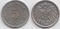 5 Pfennig 1900 A Kaiserreich  Vorzüglich-Stempelglanz  12,00 EUR  +  5,00 EUR shipping
