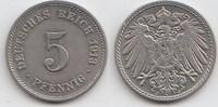 5 Pfennig 1913 J Kaiserreich  Vorzüglich +  35,00 EUR  +  5,00 EUR shipping