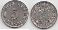 5 Pfennig 1914 F Kaiserreich  Fast Stempelglanz  12,00 EUR  +  5,00 EUR shipping