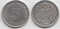 5 Pfennig 1915 G Kaiserreich  Kleine Kratzer, vorzüglich-Stempelglanz  18,00 EUR  +  5,00 EUR shipping