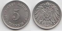 5 Pfennig 1908 E Kaiserreich  Fast Stempelglanz  30,00 EUR  +  5,00 EUR shipping