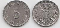 5 Pfennig 1899 J Kaiserreich  Vorzüglich-Stempelglanz  35,00 EUR  +  5,00 EUR shipping