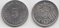 5 Pfennig 1894 A Kaiserreich  Winzige Kratzer, fast Stempelglanz  30,00 EUR  +  5,00 EUR shipping