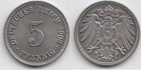 5 Pfennig 1906 E Kaiserreich  Fast Stempelglanz  38,00 EUR  +  5,00 EUR shipping