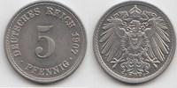 5 Pfennig 1907 F Kaiserreich  Fast Stempelglanz  35,00 EUR  +  5,00 EUR shipping