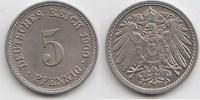 5 Pfennig 1900 F Kaiserreich  Winzige Kratzer, fast Stempelglanz  35,00 EUR  +  5,00 EUR shipping