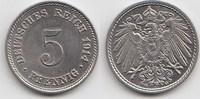5 Pfennig 1914 G Kaiserreich  Fast Stempelglanz  20,00 EUR  +  5,00 EUR shipping