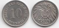 10 Pfennig 1915 D Kaiserreich  Zaponiert, fast Stempelglanz  15,00 EUR  +  5,00 EUR shipping