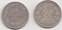 5 Francs 1849 und 1850 Belgien, Königreich 2 Stück Sehr schön  85,00 EUR  +  5,00 EUR shipping