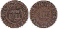 3 Reis 1699 Portugal Pedro II. 3 Reis 1699 sehr schön  50,00 EUR  +  5,00 EUR shipping