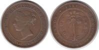 5 Cents 1870 Sri Lanka Ceylon Victoria 183...