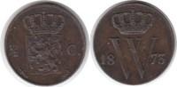 1/2 Cent 1873 Niederlande Wilhelm II. 1849...