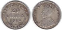 20 Cents 1912 Kanada Neufundland George V....