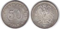50 Pfennig 1876 B Kaiserreich  vorzüglich +