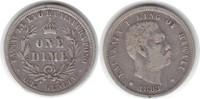 10 Cents 1883 Hawaii  sehr schön