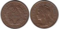 2 1/2 Centavos 1908 Chile Republik fast St...