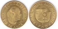 20 Pa Anga 1980 Tonga F.A.O. Gold. fast St...