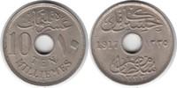 10 Milliemes 1917 Ägypten Hussein Kamil (A...