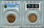 1/2 Penny 1950 Südafrika  PCGS PR 65 RB