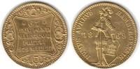 Dukat 1869 Hamburg-Stadt  Gold. Etwas gewe...