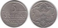5 Pfennig 1928 Danzig  vorzüglich - Stempelglanz  75,00 EUR  +  5,00 EUR shipping