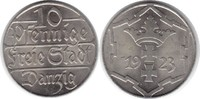 10 Pfennig 1923 Danzig  Prachtexemplar. fast Stempelglanz / Stempelglanz  95,00 EUR  +  5,00 EUR shipping