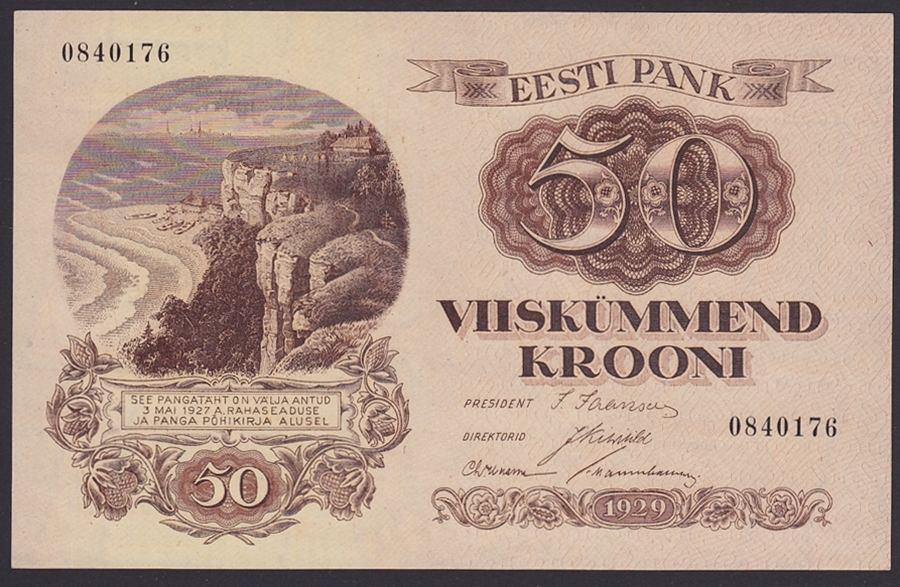 Europa Banknoten Brief Estland