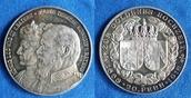 1918 Deutsches Reich Bayern Medaille auf die Goldene Hochzeit König Ludwigs, selten, Lauer, Nürnberg stg