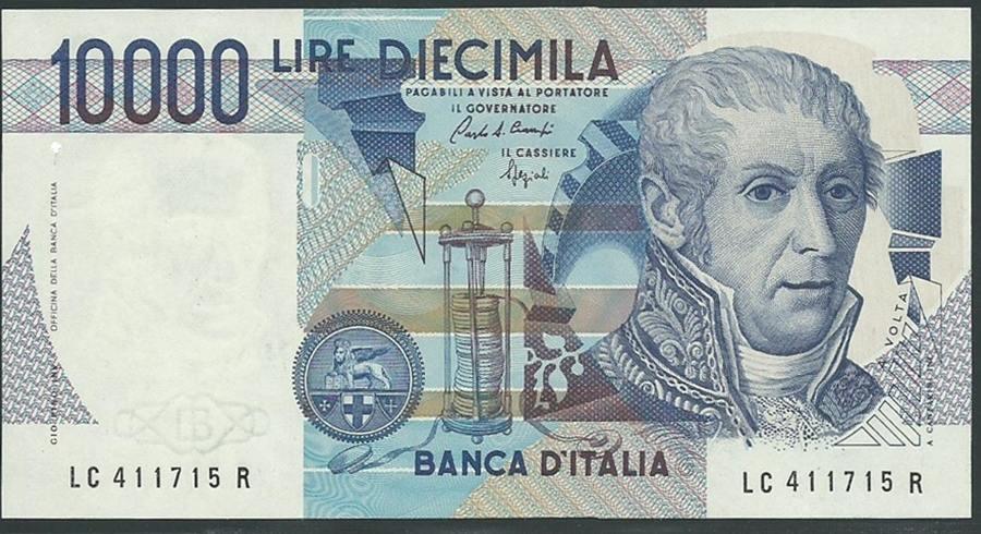 10000 Lire 1984 Italien Banca D Italia Volta I