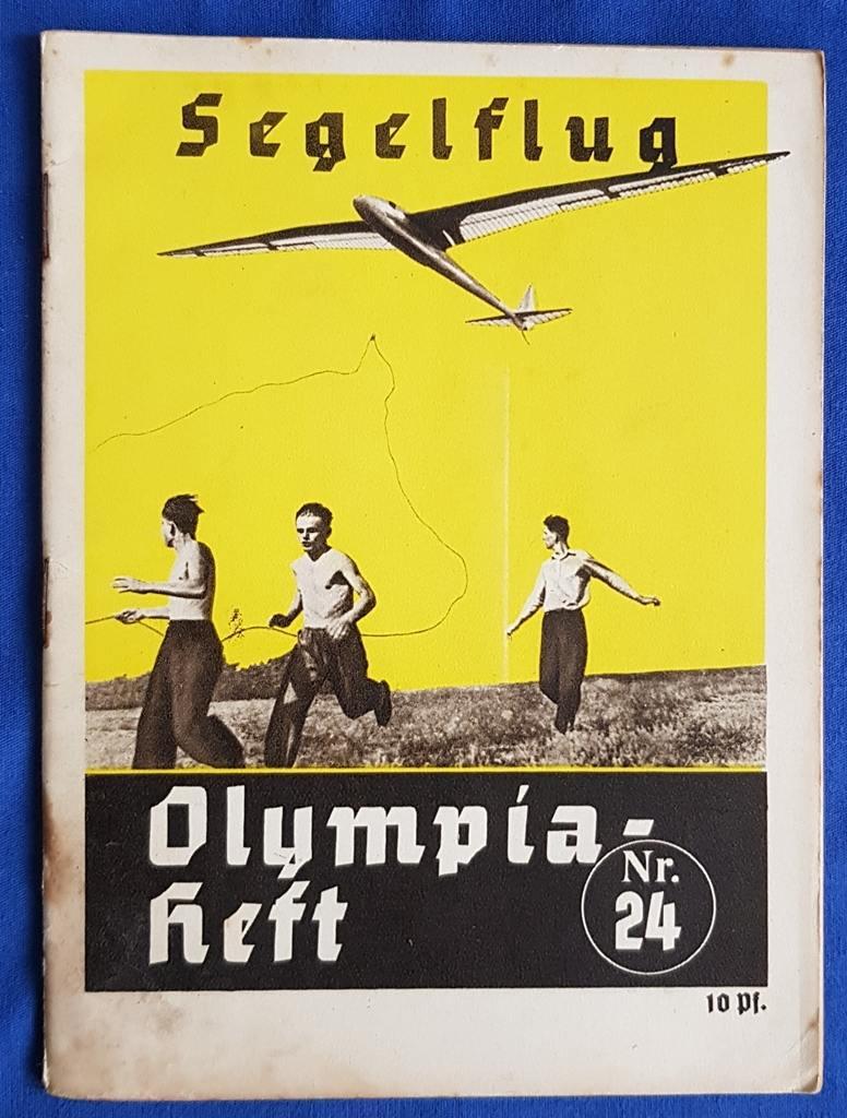 Deutsches Reich Olympiade Berlin 1936 Olympiaheft Nr 24 Segelflug Ef Vf Ma Shops