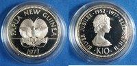 10 Kina 1977 Papua-Neuguinea Paradiesvogel...