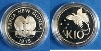 10 Kina 1975 Papua-Neuguinea Großer Paradi...