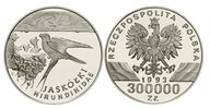300.000 Zl. 1993 Polen Rauchschwalbe am Ne...