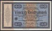 40 RM 1933 Deutsches Reich Konversionskass...