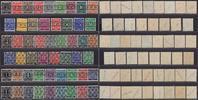 1-84 Pfg. 1948 Bizone Ziffern 52 Werte mit...